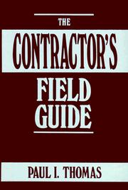 Cover of: The contractor's field guide
