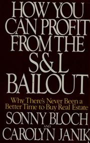 Cover of: How you can profit from the S & L bailout