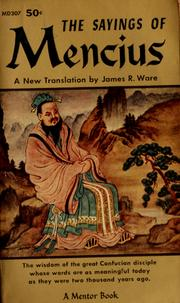 Cover of: The sayings of Mencius