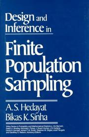 Cover of: Design and inference in finite population sampling