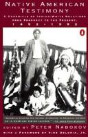 Cover of: Native American testimony