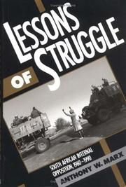 Cover of: Lessons of struggle
