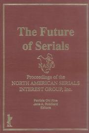 Cover of: The future of serials