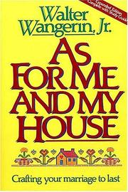 Cover of: As for me and my house