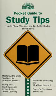 Cover of: Study Tips: How to Study Effectively and Get Better Grades (Barron's Educational Series)