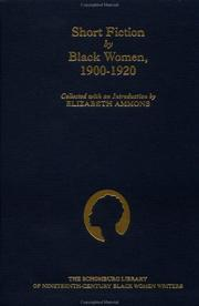 Cover of: Short fiction by Black women, 1900-1920