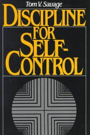 Cover of: Discipline for self-control