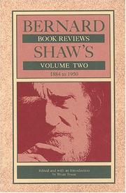 Cover of: Bernard Shaw's book reviews