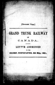 Cover of: Grand Trunk Railway of Canada