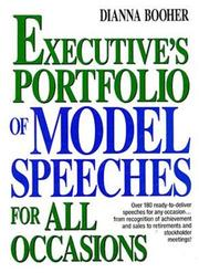 Cover of: Executive's portfolio of model speeches for all occasions