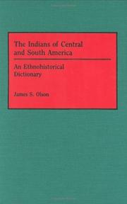 Cover of: The Indians of Central and South America