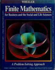 Cover of: Finite mathematics for business and the social and life sciences