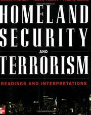 Cover of: Homeland security and terrorism