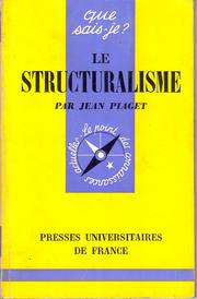 Cover of: Le structuralisme