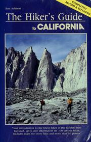 Cover of: The hiker's guide to California