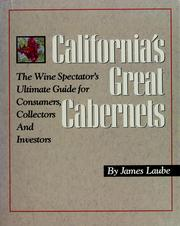 Cover of: California's great cabernets