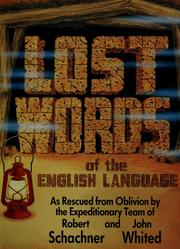 Cover of: Lost words of the English language