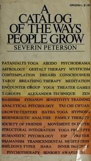 Cover of: A Catalog of the Ways People Grow