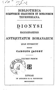 Cover of: Antiquitatum romanarum quae supersunt