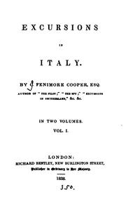 Cover of: Excursions in Italy: Collection Of Ancient And Modern British Authors