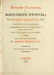 Cover of: Barnabæ Itinerarium, or, Barnabee's journal