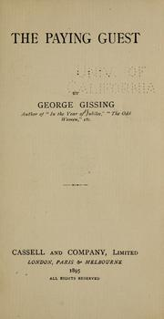 Cover of: The Paying Guest