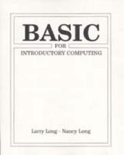 Cover of: BASIC for introductory computing
