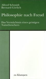 Cover of: Philosophie nach Freud