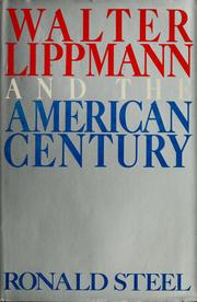 Cover of: Walter Lippmann and the American century