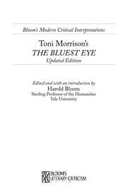 Cover of: Toni Morrison's The bluest eye