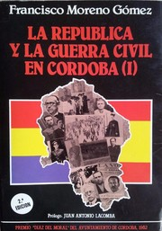 Cover of: La república y la Guerra Civil en Córdoba