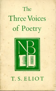 Cover of: The three voices of poetry