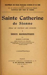 Cover of: Sainte Catherine de Sienne