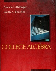 Cover of: College algebra: graphs and models