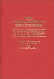 Cover of: The Anglo-American relationship