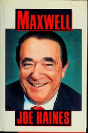 Cover of: Maxwell
