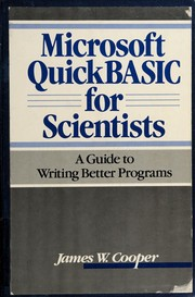 Cover of: Microsoft QuickBASIC for scientists