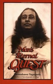 Cover of: Man's eternal quest and other talks
