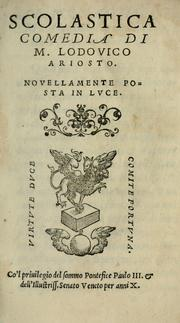 Cover of: Scolastica