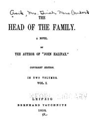 Cover of: The Head of the Family: A Novel