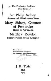 Cover of: The Pembroke Booklets: First Series