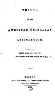 Cover of: Tracts of the American Unitarian Association