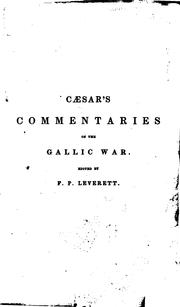 Cover of: Commentarii de bello Gallico: Books I-VII, According to the Text of Emanuel Hoffmann (Vienna, 1890)