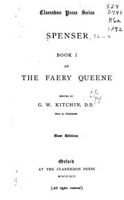 Cover of: Spenser: Book I of the Faery Queene