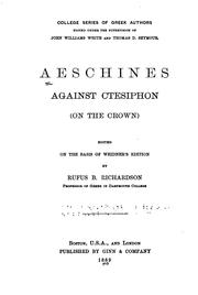 Cover of: Aeschines against Ctesiphon: (On the crown)
