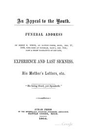 Cover of: An Appeal to the Youth: Funeral Address of Henry N. White