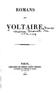 Cover of: Romans de Voltaire