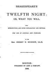 Cover of: Twelfth Night: Or, What You Will: Or, what You Will