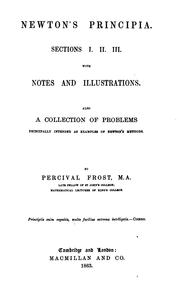 Cover of: Newton's Principia, Sections I, II, III, with Notes and Illustrations: Also a Collection of ..