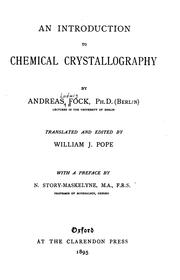Cover of: An Introduction to Chemical Crystallography...